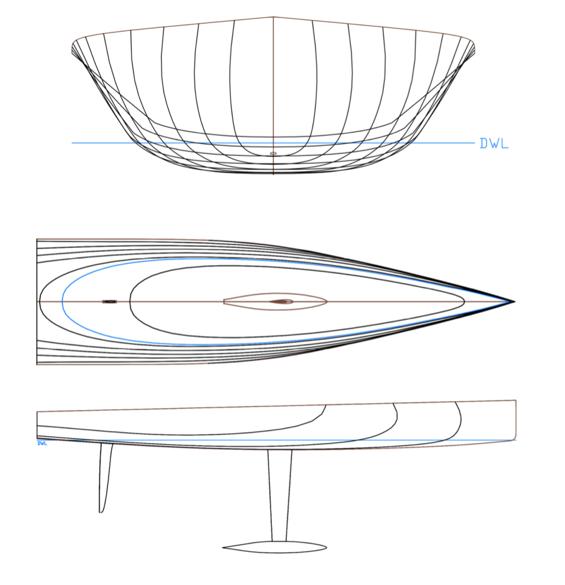 sailing yacht linesplan